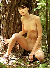 Olga in the woods